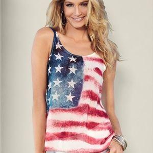 Venus patriotic American flag tank top small